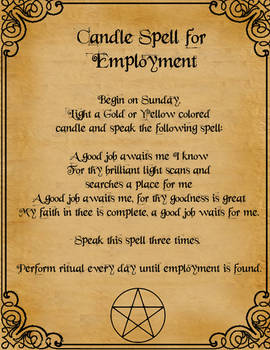 Candle Spell For Employment