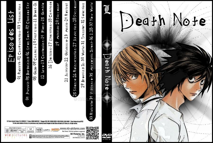 Death Note DVD Cover by harleyhrl on DeviantArt