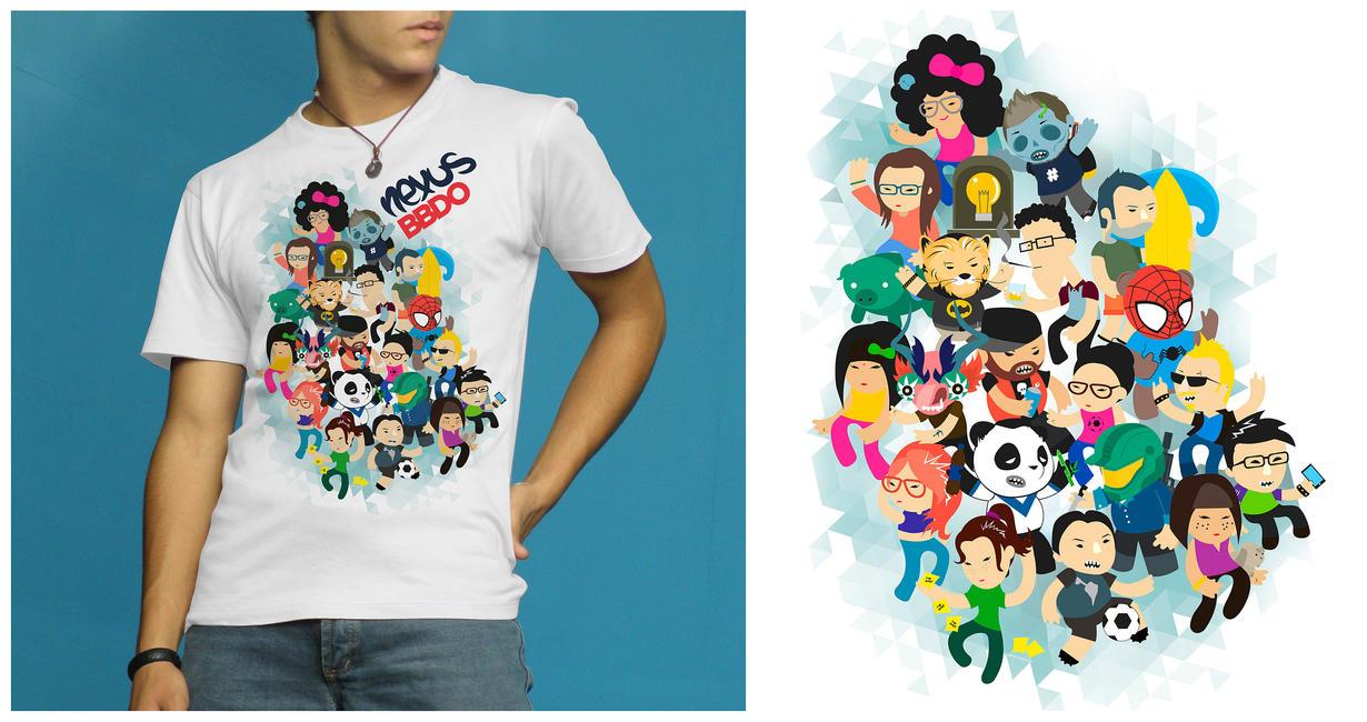 nexus BBDO t shirt by rodrigozenteno