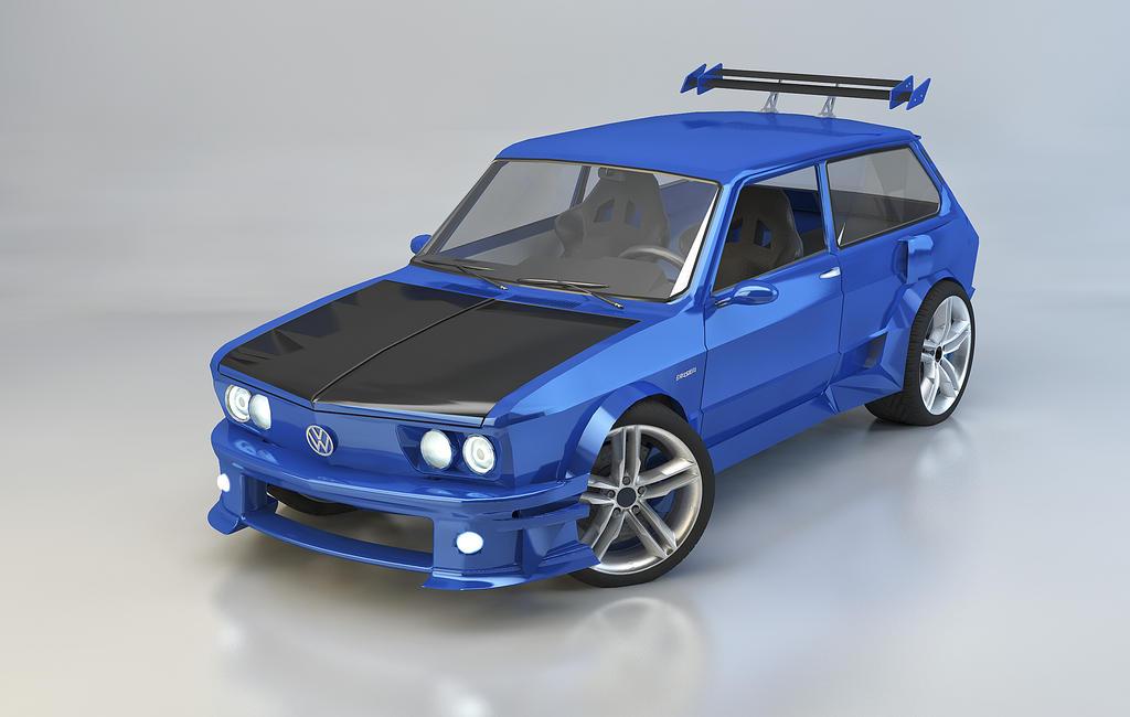 VW Brasilia Tuning 3d by rodrigozenteno