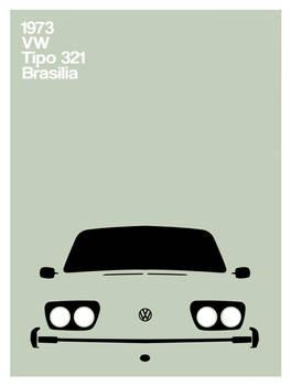 Vw Brasilia - tipo321 poster