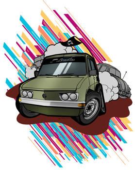 VW Brasilia CARTOON