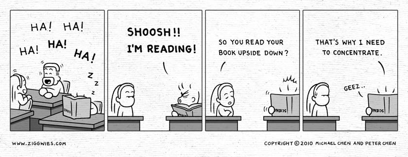 SHOOSH I'm Reading