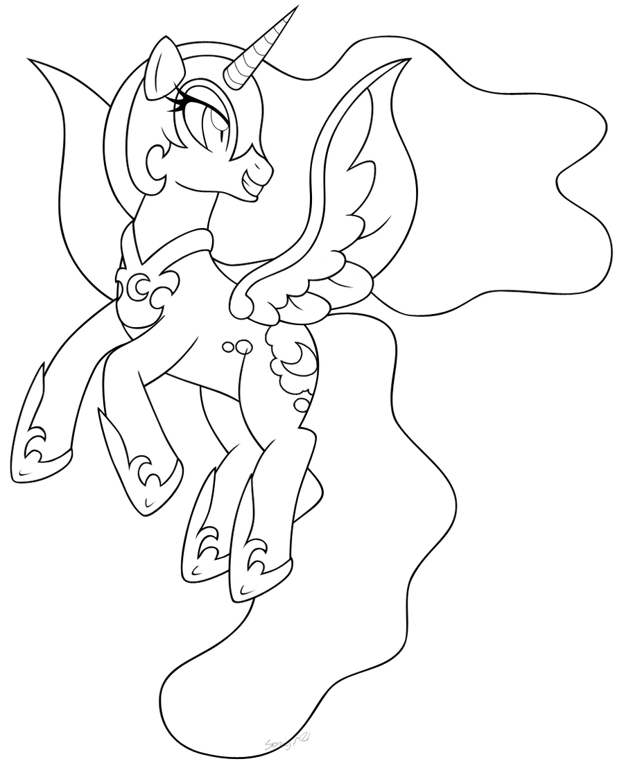 My little pony coloring pages nightmare moon - My Little Pony Coloring Pages Nightmare Moon Inked Nightmare Moon 2 By Mintystitch On Deviantart