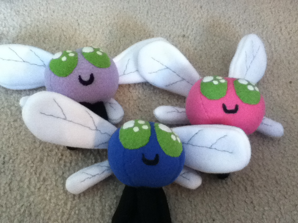 Parasprite Plushies by MintyStitch