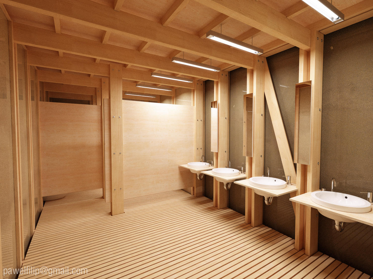Public toilet interior night by zmoodel on deviantart for Home washroom