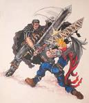 Guts vs. Kingdom Hearts Cloud