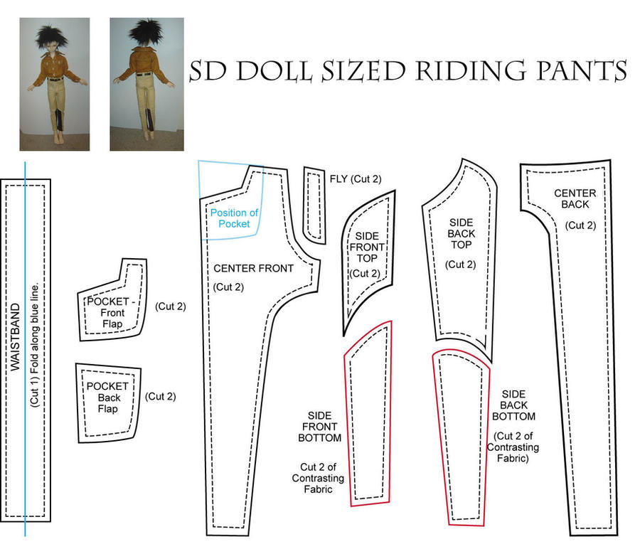 BJD - SD - Riding Pants Patter by AmethystArmor