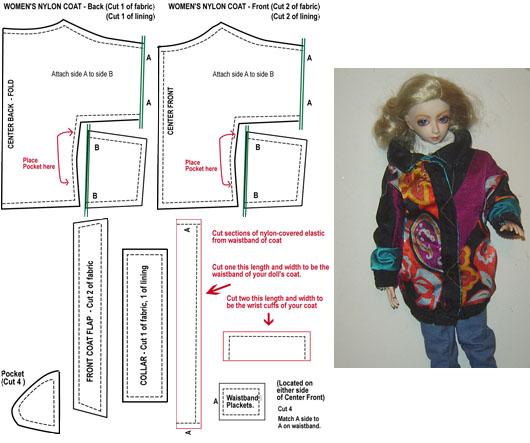 BJD - Winter Coat Pattern -SD by AmethystArmor