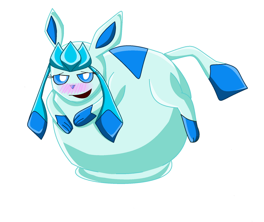 Com: Gluttonous Glaceon By Zach-The-Tiger On DeviantArt