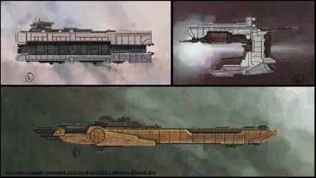 Ship Graveyard Initial Concepts by residentcrow7