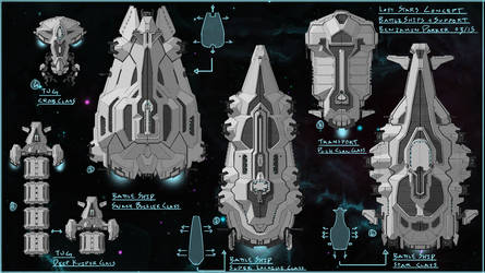 Lost Stars Cocept Art Praught-Rickens Ships 2 by residentcrow7