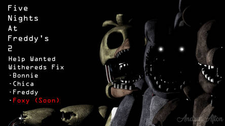 C4D FNaF 2 Withered Pack:The original Ones by AndreaAfton