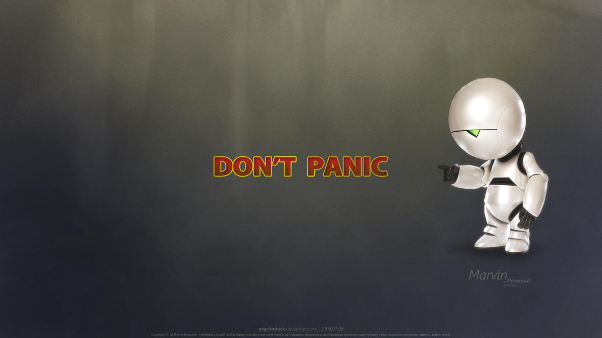Don T Panic Marvin By Psychoduck On Deviantart