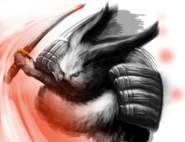 Bunny Samurai by psychoduck