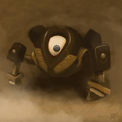 Dark Armored Eye by psychoduck