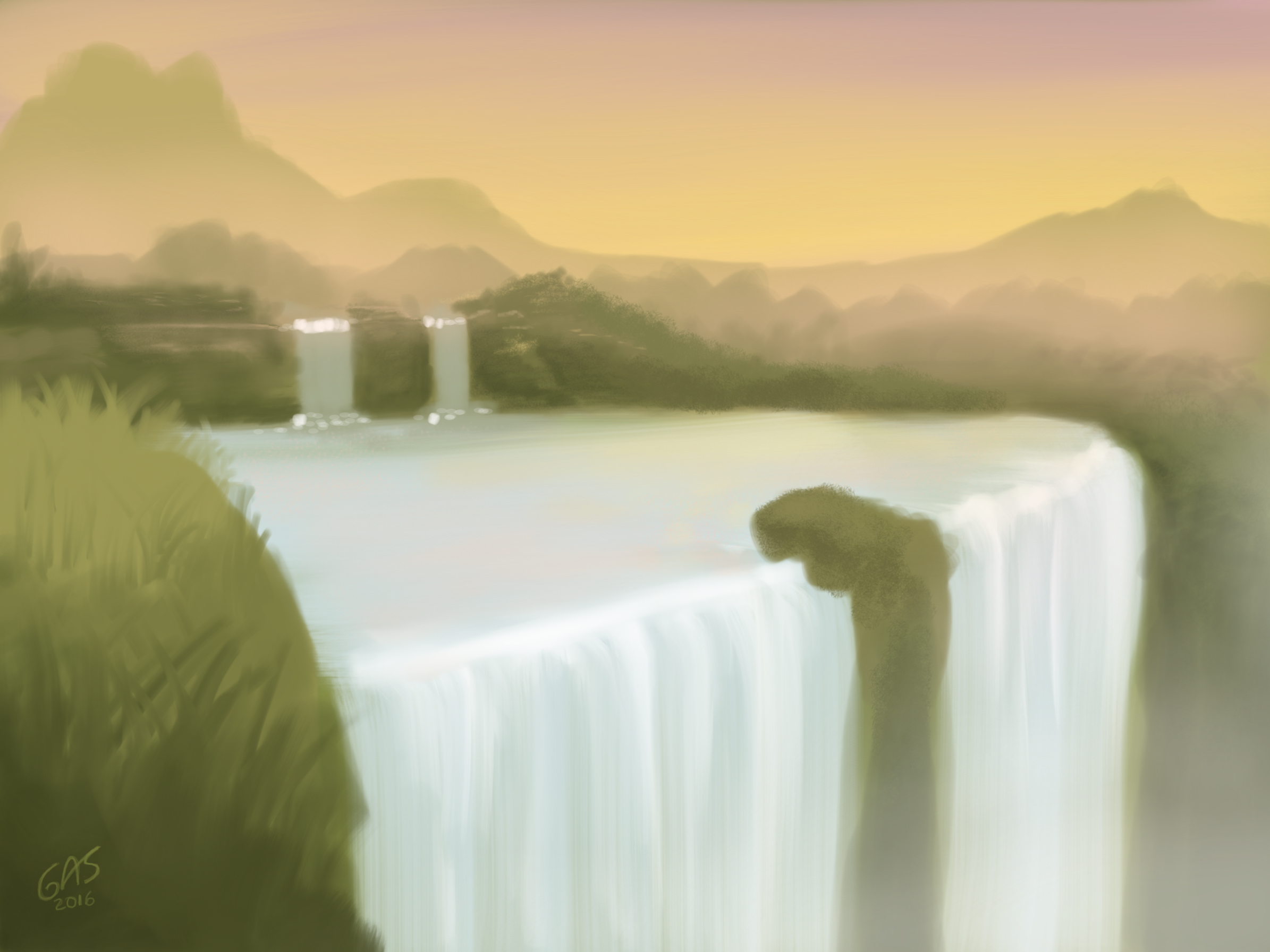 Waterfall by psychoduck