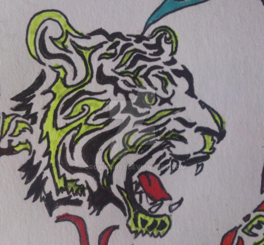 Tribal Tiger By Ruttan On Deviantart: Tiger Tribal By Crow198993 On DeviantArt