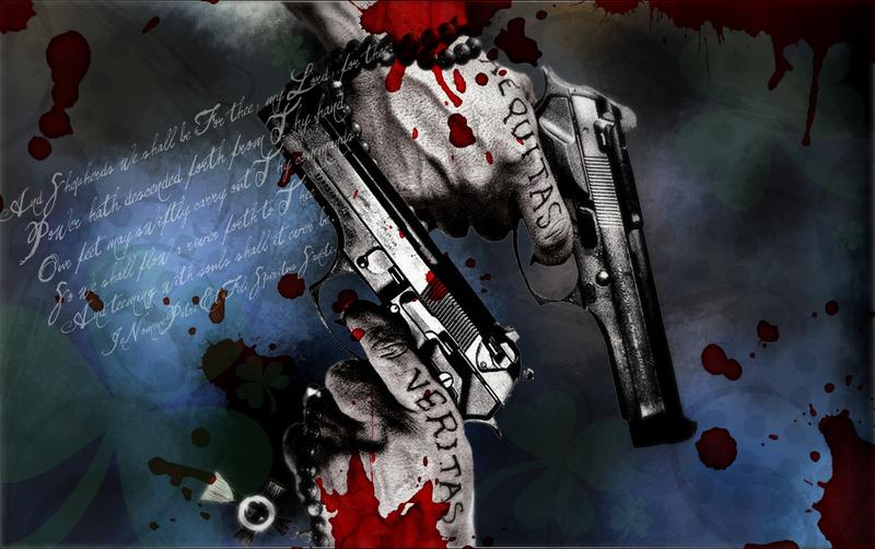 gallery for boondock saints guns wallpaper