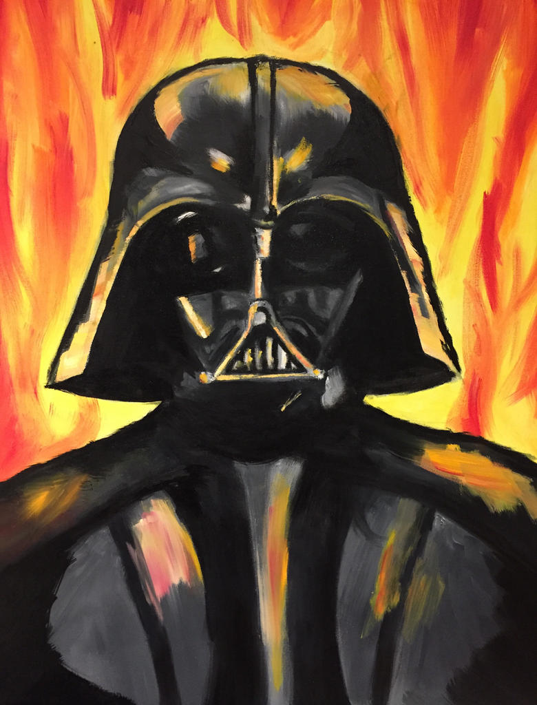 Lord Vader On Fire Oil Painting By JuanaSunfall