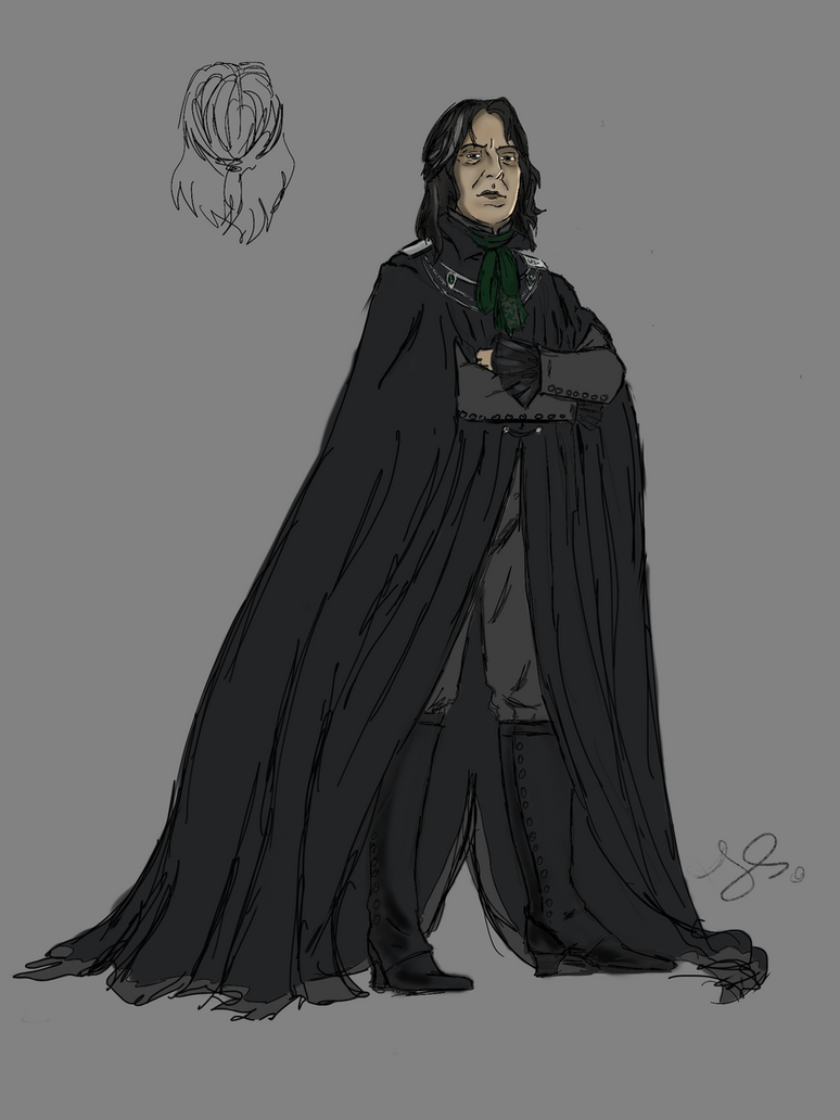 Snape headmaster robe design 2 by JuanaSunfall
