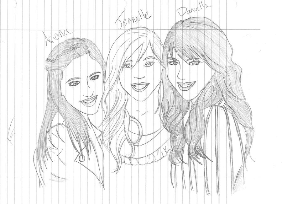 Ariana grande drawing outline ariana jennette daniella by