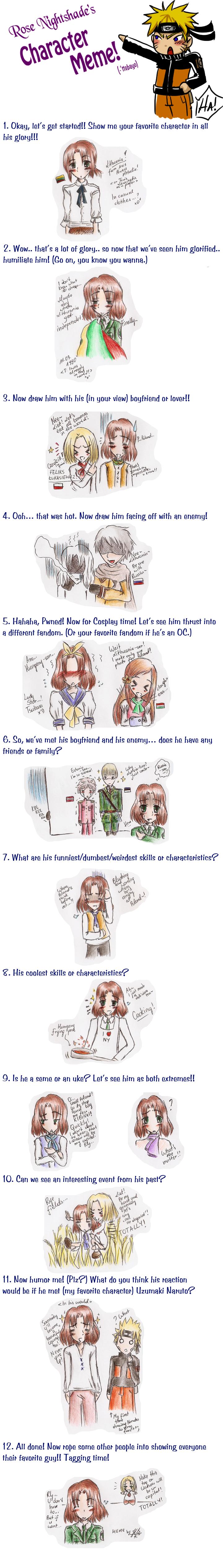 Character Meme... Liet by Tian-samaaaa