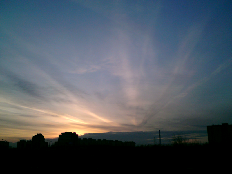 Sunrise ::: my town by Tian-samaaaa