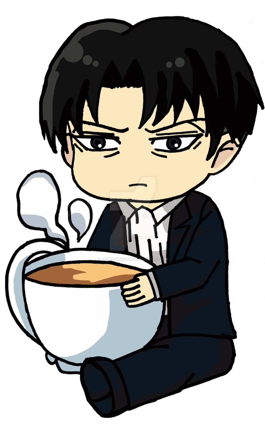 Chibi Levi Ackerman By Jewsters1986 On Deviantart