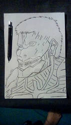 Armoured Titan Line Art by Jewsters1986