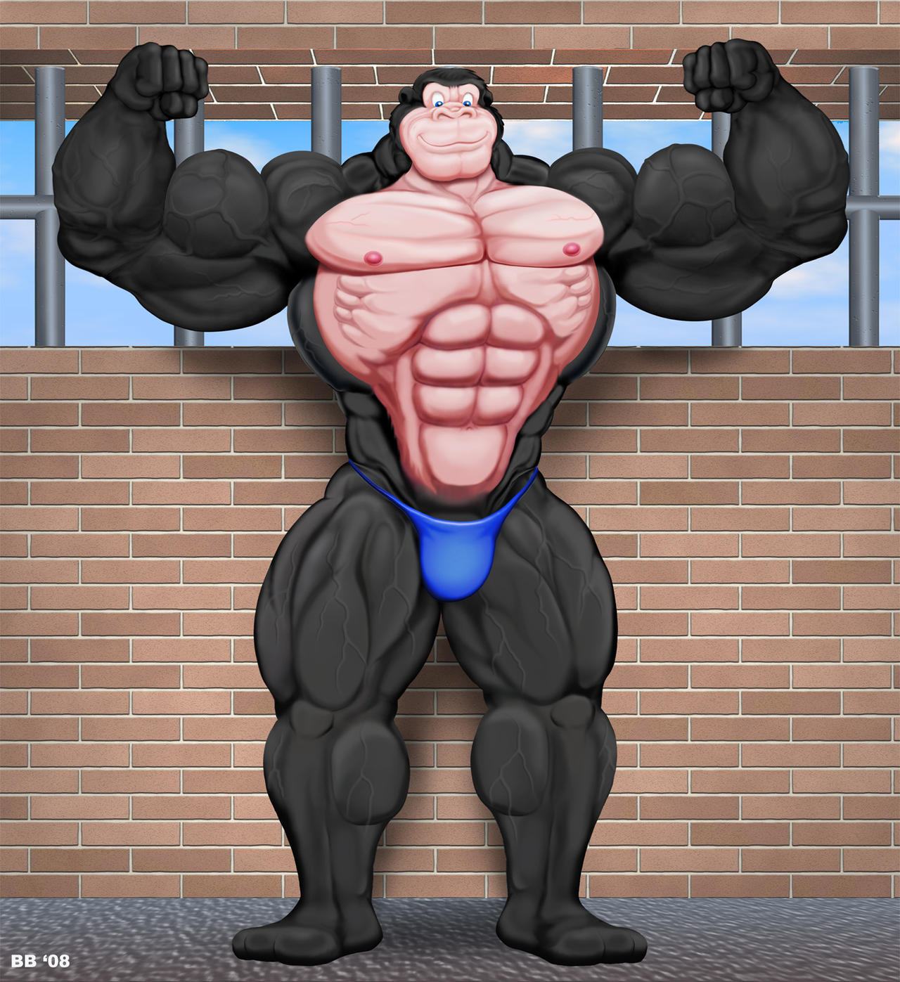 Big Gorilla Flex by Blathering on DeviantArt