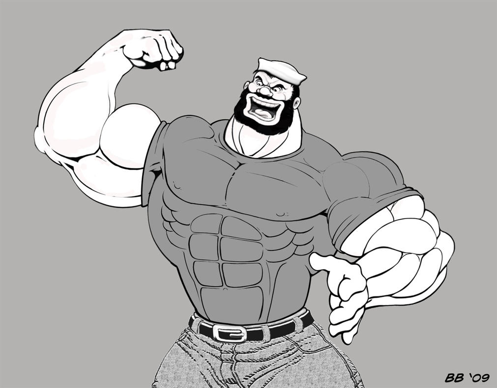 Bluto tight tight t-shirt by Blathering on DeviantArt