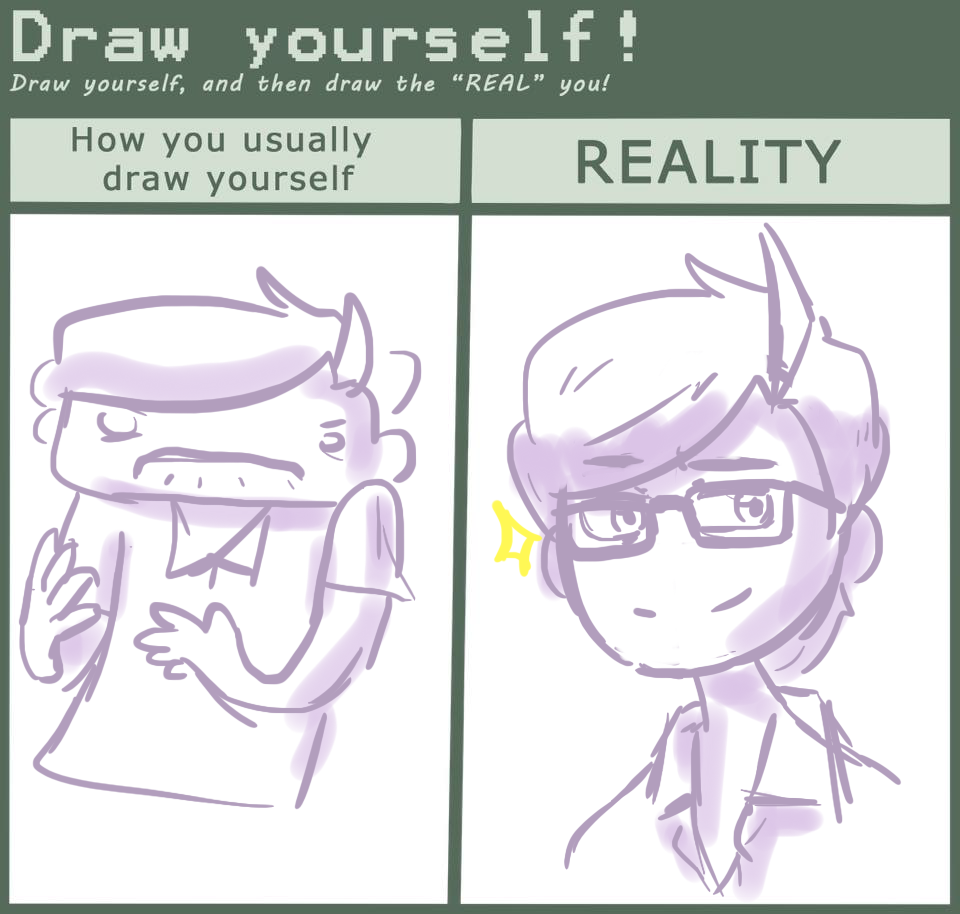 how to make a drawing of yourself