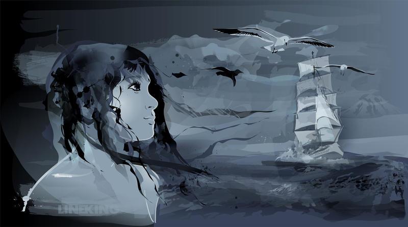 Storm on the Sea by imlineking