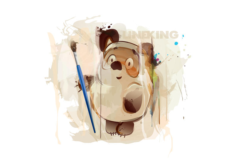 Russian Pooh by imlineking