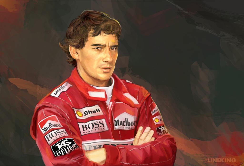Ayrton Senna by imlineking