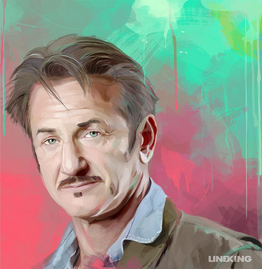 Sean Penn (vector portrait) by imlineking
