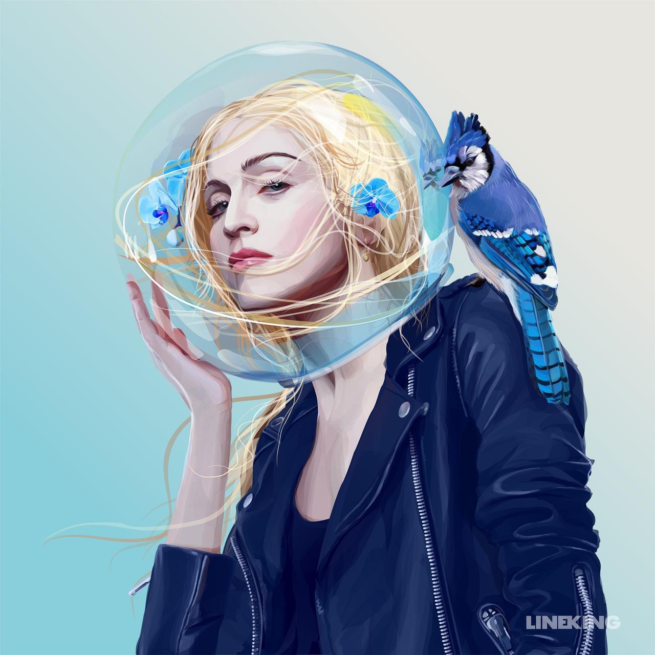 True Blue (vector art)