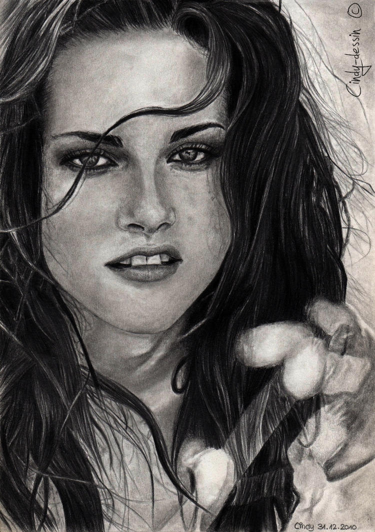 kristen stewart by cindy drawings on deviantart