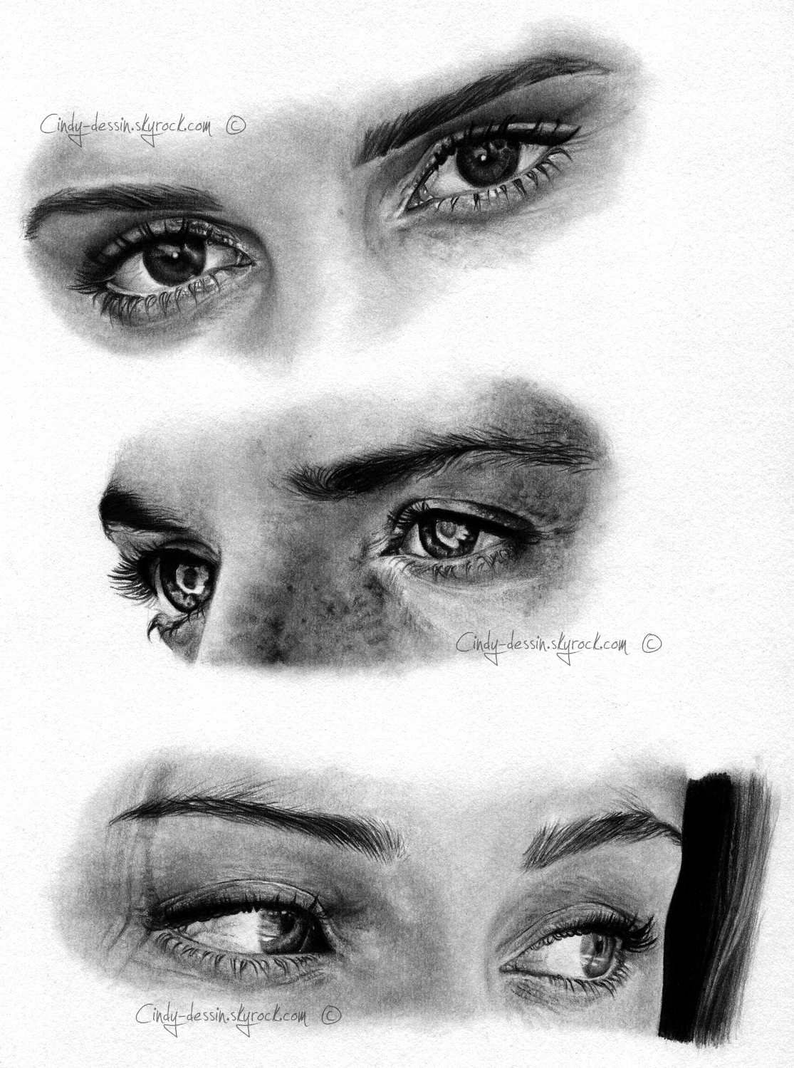 Who do these eyes belong to ? by cindy-drawings