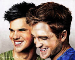 Taylor Lautner and Robert Pattinson