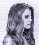 Lana Del Rey (ballpoint pen)