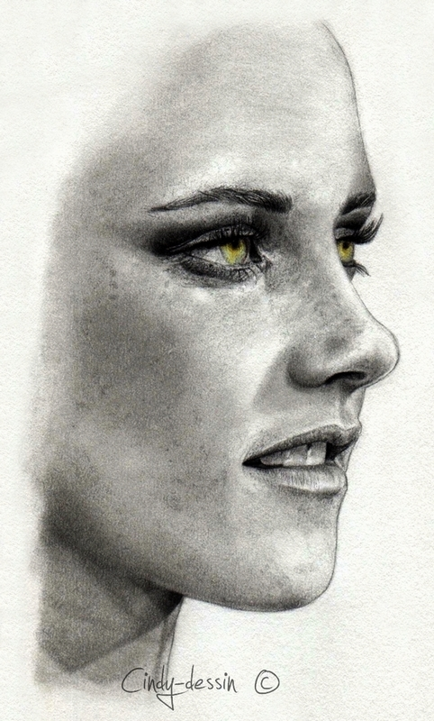 Kristen Stewart II by cindy-drawings