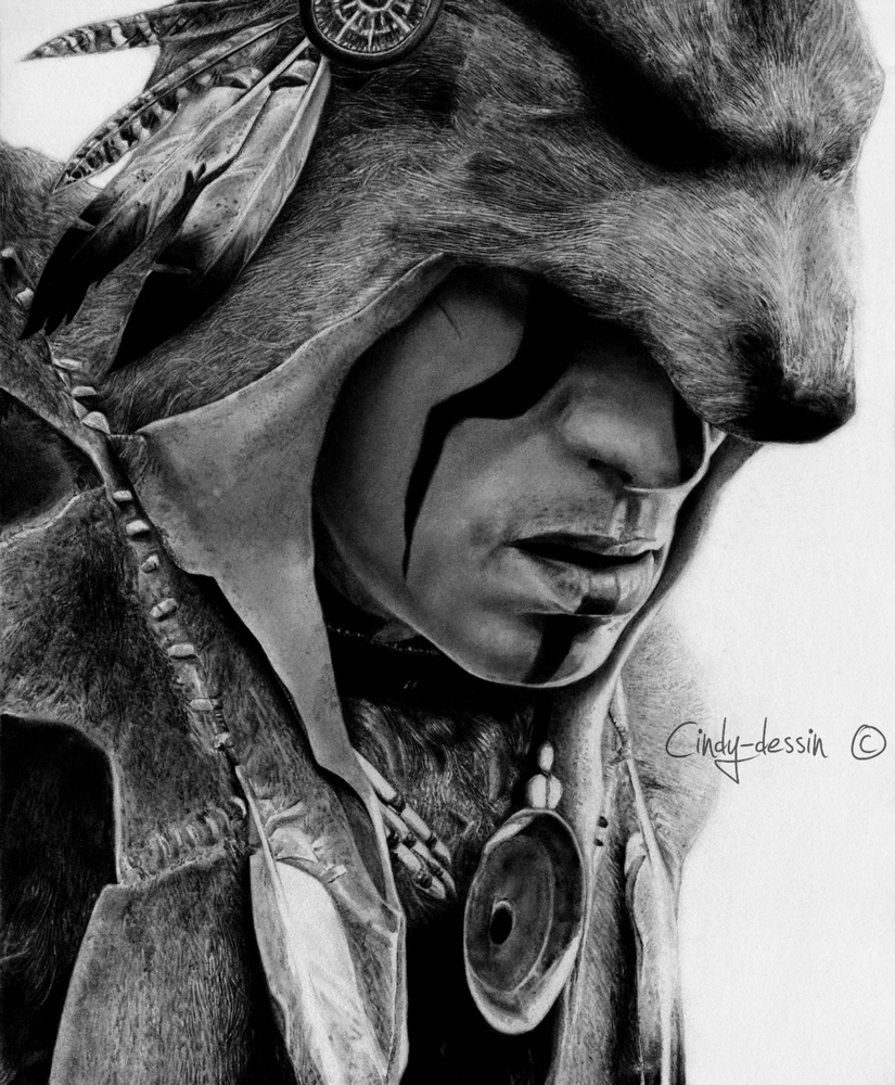 Assassin's Creed III - Ratonhnhake:ton by cindy-drawings