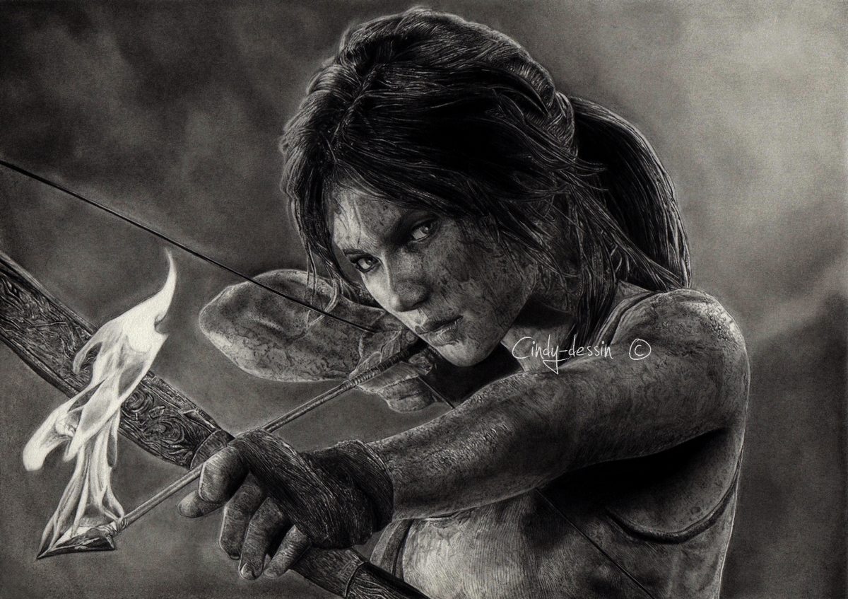 TOMB RAIDER - Lara Croft by cindy-drawings