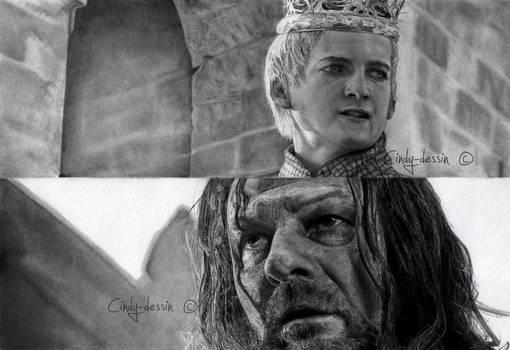Joffrey BARATHEON, Eddard STARK from GoT