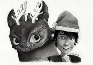 Toothless and Hiccup wish you a Merry Christmas