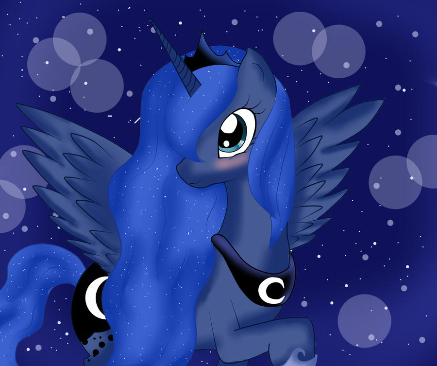 Princess Luna ~ by LauMizu