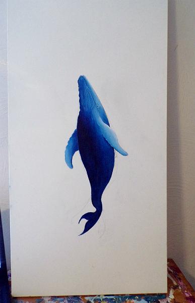 Humpback Whale - Work in Progress by DavidMunroeArt