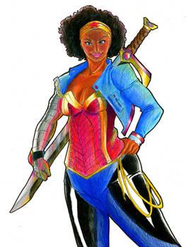 Black Wonder Woman by sjh6693